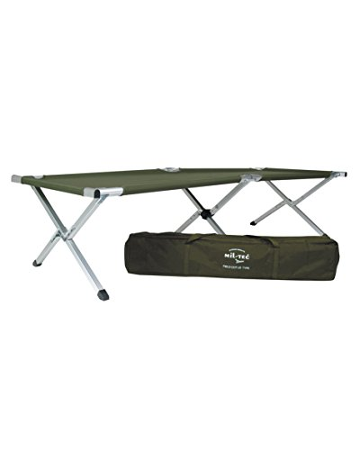 Mil-Tec Aluminium Folding Camp Bed US Style Folding cot with Bag von Mil-Tec