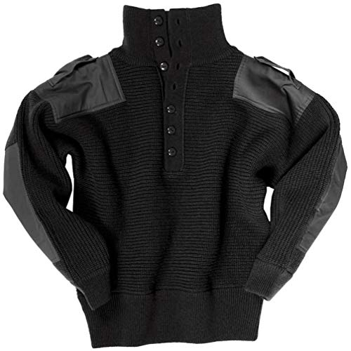 Mil-Tec OESTERR Alpine Sweater Wool Black von Mil-Tec