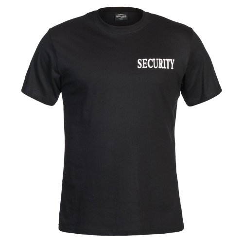 Mil-Tec T Shirt Black M Double Print Security von Mil-Tec