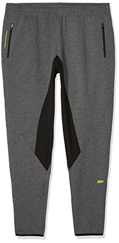 MusclePharm Herren Jog Pant with Contrast Panels, Grey Marl, M von MusclePharm