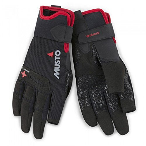 Musto 2018 Perfomance Sailing Long Finger Gloves Black AUGL004 Size - - Large von Musto