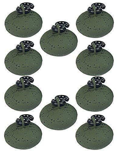 Angelgewichte zum Karpfen-Angeln 10/x 42,5/g, flach, birnenf/örmig 10/St/ück alle Gr/ö/ßen birnenf/örmig flache Gewichte 42,5/g // 56,7/g // 70,8/g // 85/g // 99,2/g