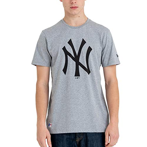 A NEW ERA Herren Team Logo Tee Neyyan Hemd, Grau (Grey med), L von A NEW ERA