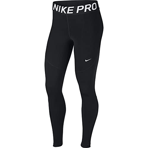 Nike Damen Pro Tights, Black/White, L von Nike