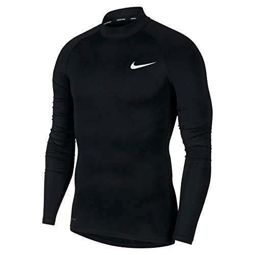 Nike Herren M NP TOP LS Tight Mock Long Sleeved T-Shirt, Black/(White), 2XL von Nike