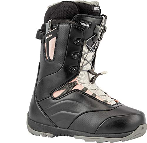 Nitro Snowboards Damen Crown TLS '20 All Mountain Freeride Freestyle Schnellschnürsystem Boot Snowboardboot, Black-Rose, 26.5 von Nitro Snowboards