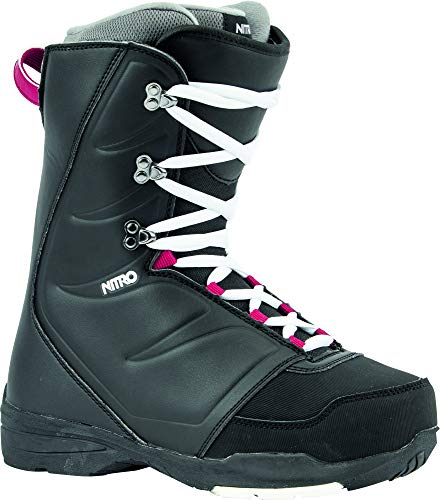Nitro Snowboards Damen Flora STND '20 All Mountain Freestyle Lacing günstig Boot Snowboardboot, Black, 27.5 von Nitro Snowboards