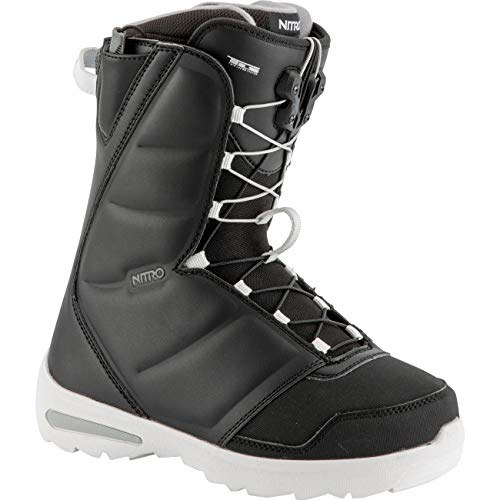 Nitro Snowboards Damen Flora TLS '19 Leichter Snowboardschuh Snowboardboot mit Schnellschnürsystem Einsteiger Allround Freestyle Freeride Softboot Günstig Girls Warm Boots, Black, 25.0 von Nitro Snowboards