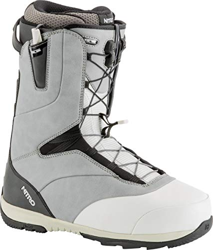 Nitro Snowboards Herren Venture TLS '19 Leichter Snowboardschuh Snowboardboot mit Schnellschnürsystem Allround Freestyle Freeride Softboot Warm Boots, Grey-White-Black, 27.5 von Nitro Snowboards