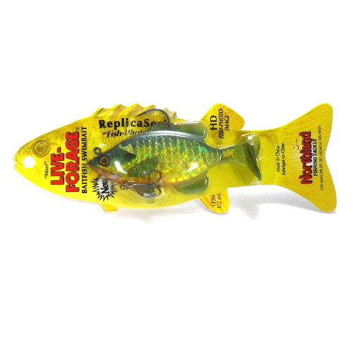 Northland Tackle lfs6–27 live-Forage Swimbaits W/TH Köder, Bluegill, 10,2 cm von Northland
