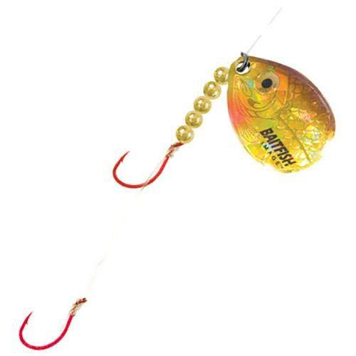 Northland Tackle rch4–3-gr baitfish-Image Spinner Geschirr # 4 # 2 3/CD baitfish-Image Spinner Geschirr # 4, Gold Shiner von Northland