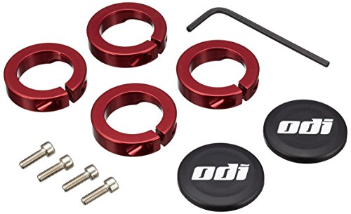ODI Griffe Accessories Klemmringe für Lock-On System, Rot, 7 mm, D70LJR von ODI
