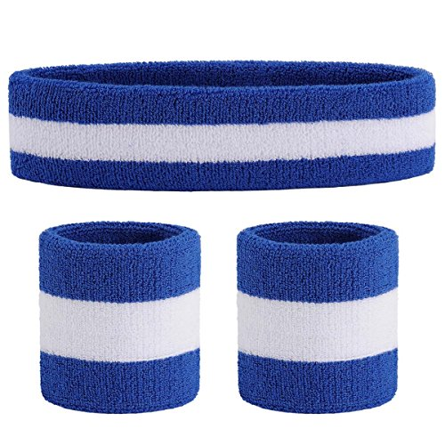 Halt den Schwei/ß zur/ück /& Super Komfortabel Workout und Fitness OnUpgo Schwei/ßband Sport Stirnband Athletisches Baumwolle Terry Cloth Sweat Stirnband f/ür Yoga