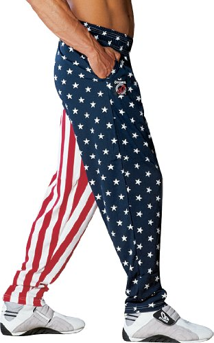 BAGGY GYM WORKOUT PANTS STARS AND STRIPES von Otomix