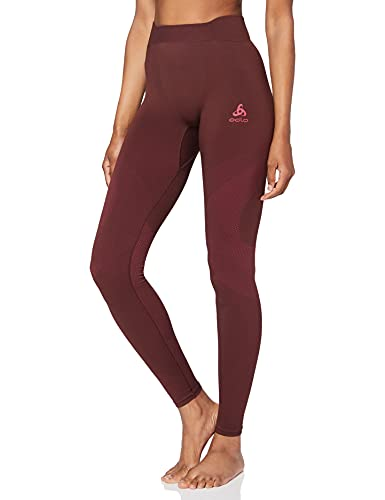 Odlo Damen BL Bottom Long Performance WARM Unterhose, Decadent Chocolate - Cerise, XL von Odlo