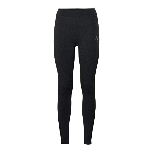 Odlo Damen BL Bottom Long Performance WARM Unterhose, Black Concrete Grey, S von Odlo