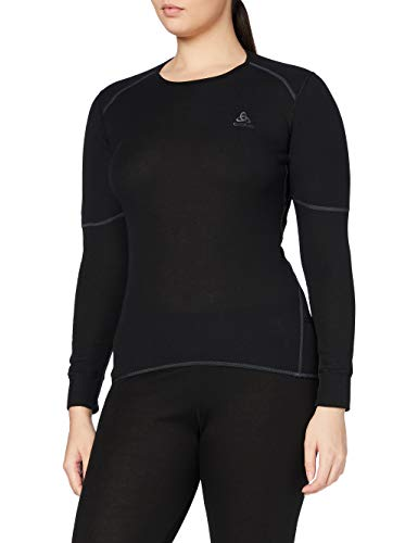 Odlo Damen Shirt Long Sleeve Crew Neck X-Warm Unterhemd, Black, XL von Odlo