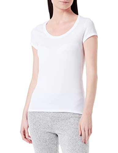Odlo Damen BL TOP Crew Neck s/s Active F-Dry Light Unterhemd, White, S von Odlo