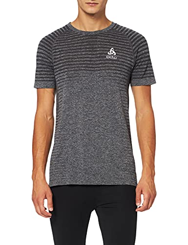 Odlo Herren T-Shirt s/s Crew Neck Seamless Element, Grey Melange, S von Odlo