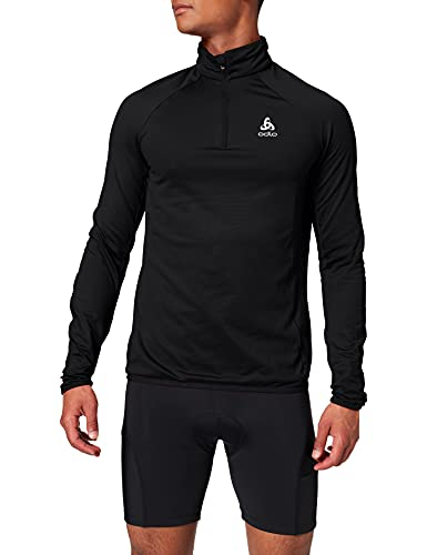 Odlo Herren Midlayer 1/2 Zip Carve Light Pullover, Black, XL von Odlo
