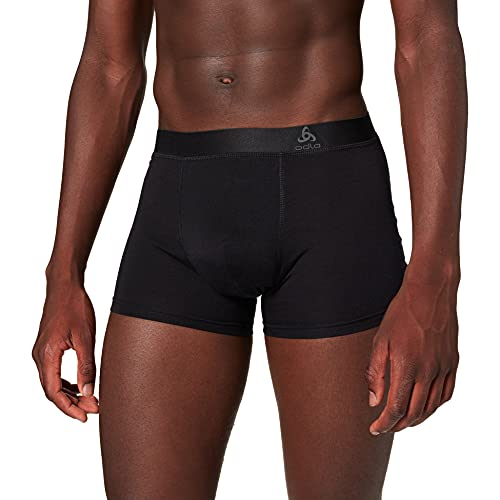 Odlo Herren SUW Bottom Boxer Natural Light Unterhose, Black, XXL von Odlo