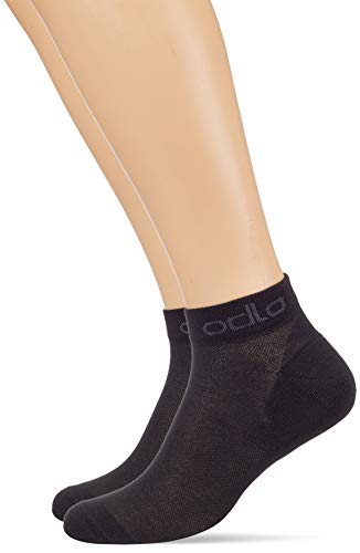 Odlo Socks Low Active 2 Pack, Black, 36-38 von Odlo
