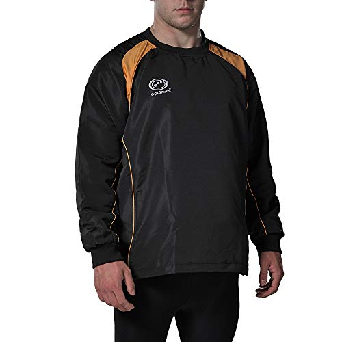 OPTIMUM Herren Windbreaker Blitz XL Schwarz/Bernstein von OPTIMUM