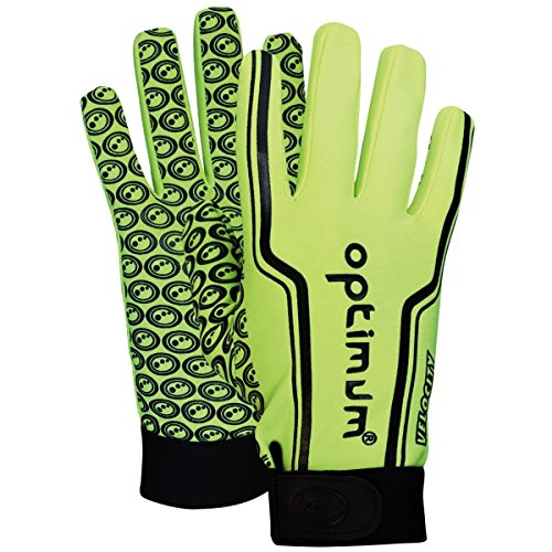 Optimum Unisex-Youth Senior Velocity Rugbyhandschuhe, Schwarz/Orange, X-Large, Fluro Yellow, XXX (Small Boys) von OPTIMUM