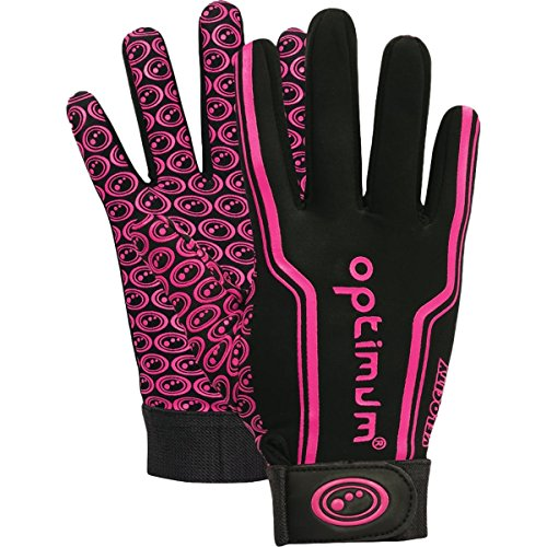 Optimum Unisex-Youth Senior Velocity Rugbyhandschuhe, Schwarz/Orange, X-Large, Pink, XXS von OPTIMUM