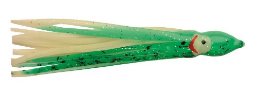 "P-Line Glow Sunrise Squid (5er Pack), P-Line SQ75-267 S.R. Squid Glow Green/Dark Green Splotch (Glow) 7.5"", Glow Green/Dark Green Splotch/Glow, 7.5"" von P-Line"