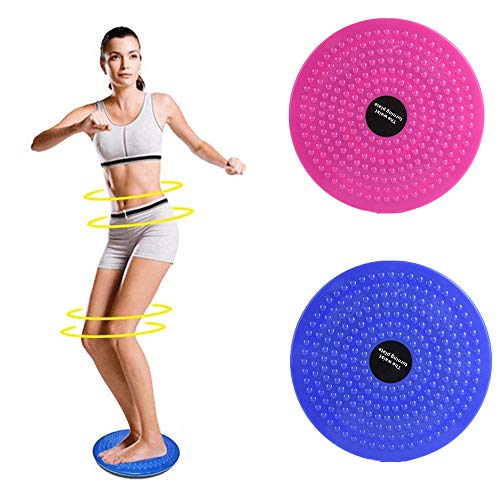 PBFONE Twisting Waist Disc, Sportgeräte Aerobic Fußmassage Körperformung Twisting Waist Machine Rotating Board Female Twister (Rosa) von PBFONE