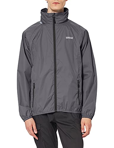 PRO-X elements Herren Jacke Pack able, Anthrazit, S, 7020 von PRO-X elements