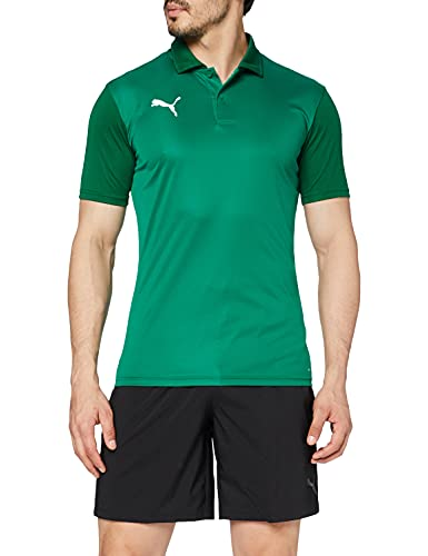 PUMA Herren teamGOAL 23 Sideline Polo Poloshirt, Pepper Green-Power Green, L von PUMA