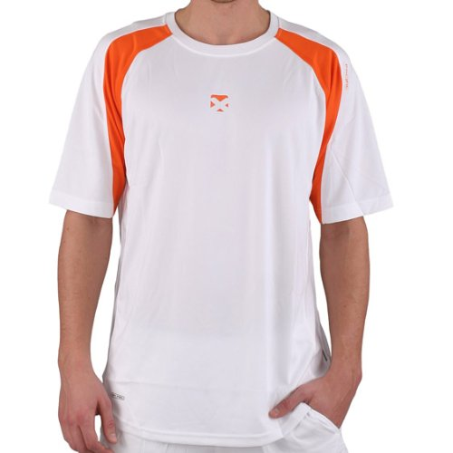 pacific Textilien Tee Tour X Dry-Feel, weiss/ orange, S, PC-7770.15.11 von Pacific