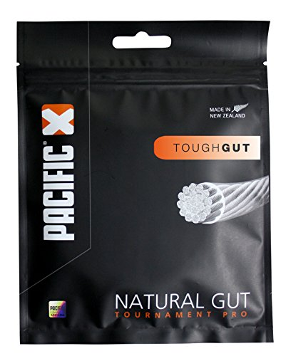 Pacific Tournament Pro Tough Gut-12m-Garnitur Tennissaite, Natur, 9.0G/16 von Pacific