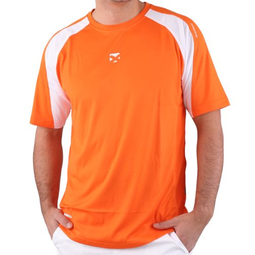 pacific Textilien Tee Tour X Dry-Feel, orange/ weiss, S, PC-7770.15.41 von Pacific