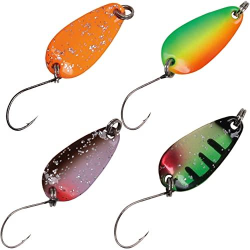 Forellenblinker Set 4 Paladin Trout Spoons perlmuttfarben 1,6g Angelköder