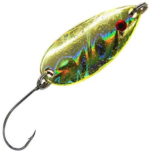 Farbe:fluoorange-glitter//goldfarben Blinker Paladin Trout Spoon Hammerschlag L 3,5g Forellenk/öder zum Spinnangeln Forellenblinker zum Spinnfischen auf Forellen