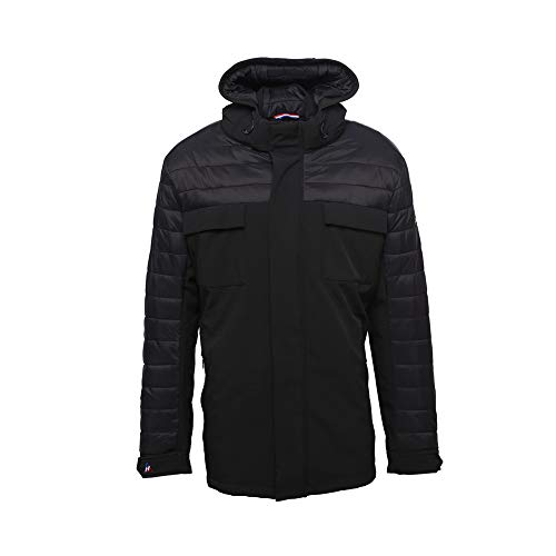 Peak Mountain Cantheon/Al Herren Parka gesteppt L Schwarz von Peak Mountain