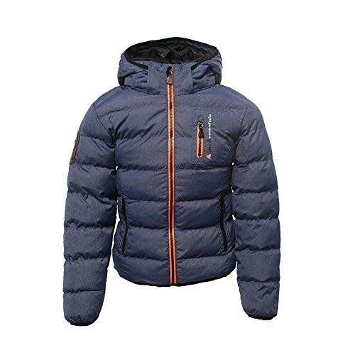 Peak Mountain Ecarf/10-16/Yl Jungen Daunenjacke M Bleu chiné von Peak Mountain