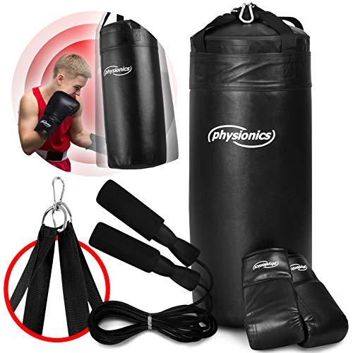 PUNCHLINE Kinder Boxset Boxsack Deckenbefestigung Boxhandschuhe Springseil