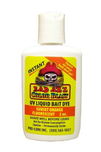 Pro-Cure Bad Azz Color Blast Flüssige Köderfarbe 60 ml, Sunset Orange fluoreszierend von Pro-Cure