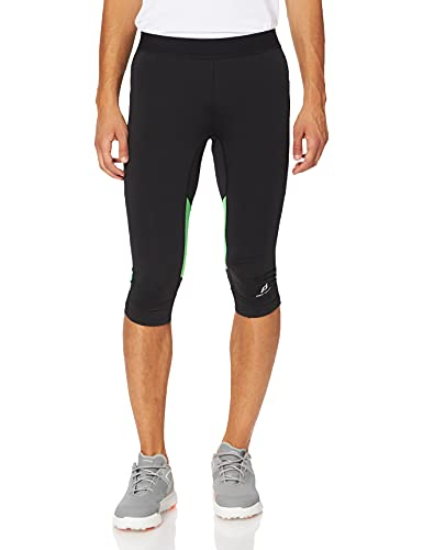 Pro Touch Herren Tight 3/4 Castel, Black/Black/Green, S von Pro Touch