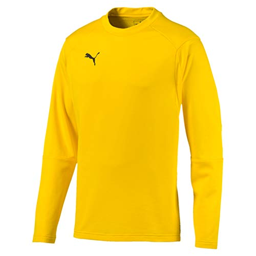 Puma Herren Liga Training Sweat Trainingsanzug, Cyber Yellow Black, S von Puma