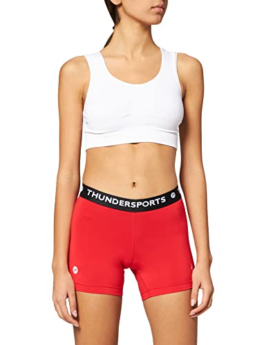 Pure2Improve Damen Thundersports Shorts, rot, XS von Pure2Improve