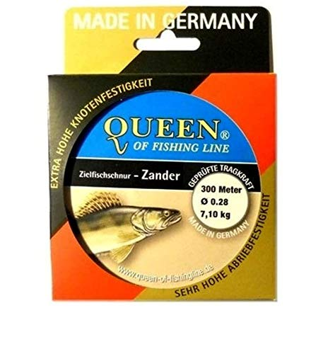 Zielfisch-Schnur Queen of Fishing Line / Zander 0,28mm 7,1kg 300m von Queen of Fishing Line
