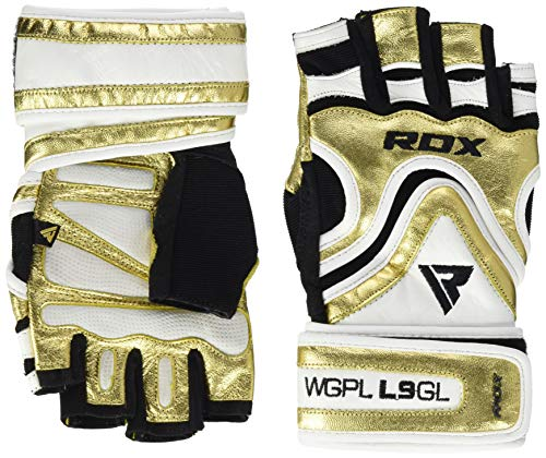 RDX L9 Trainingshandschuhe Gym Gloves, Golden, S von RDX