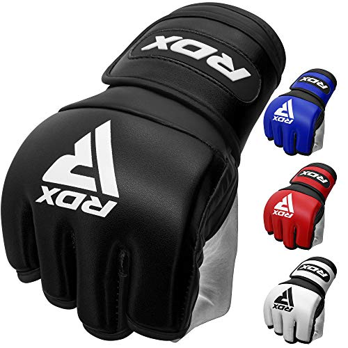 RDX MMA Handschuhe für Kampfsport Training Maya Hide Leder Kickboxen Grappling Gloves Punchinghandschuh für Sparring, Muay Thai, Freefight, Boxsack, Sandsack (MEHRWEG) von RDX