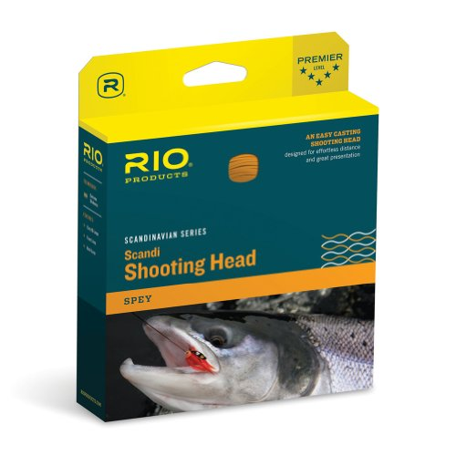 Rio Fly Fishing Fly Line Scandia Shad 34'. 450gr Fishing Line, Salmon/Orange von RIO Products