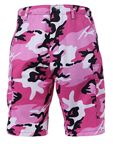 ROTHCO P/C BDU Shorts, Herren, Pink Camo, Small von ROTHCO